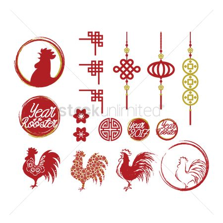 Illumination : Set of chinese new year icons
