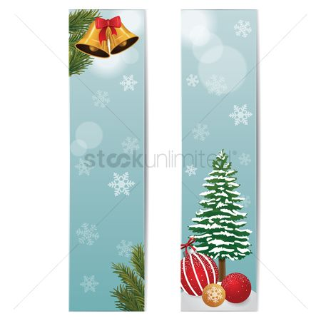 Bauble : Set of christmas banners