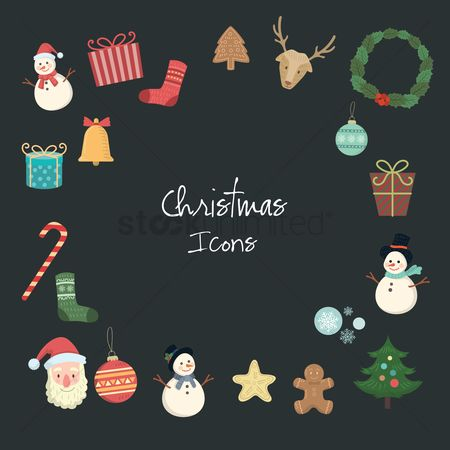 Biscuit : Set of christmas icons
