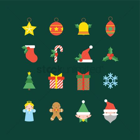 Cookie : Set of christmas icons