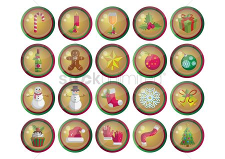 Sock : Set of christmas web buttons