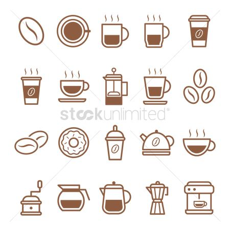 Jar : Set of coffee icons