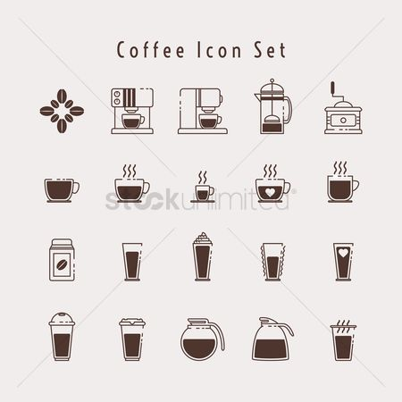 Cup : Set of coffee icons