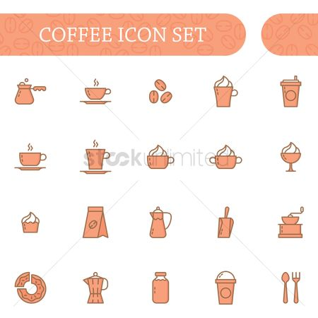 1996634 Ground Coffee Set Of Icons