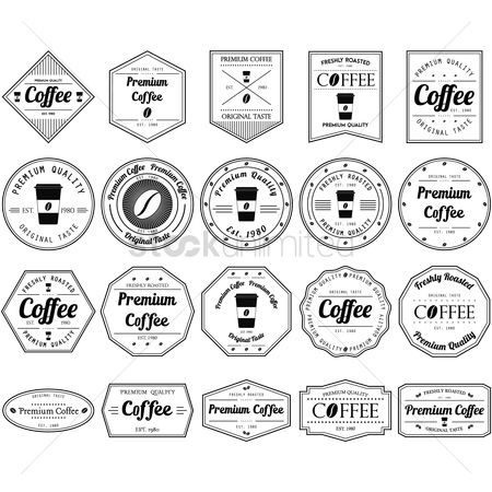 Aroma : Set of coffee labels