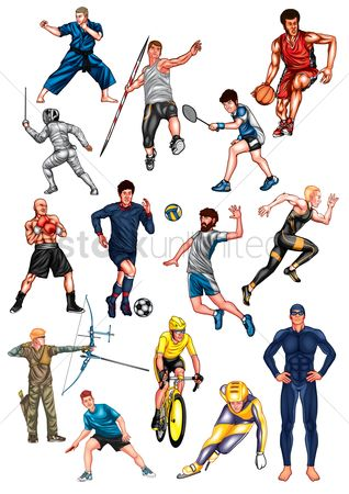Athletes : Set of competitive sports