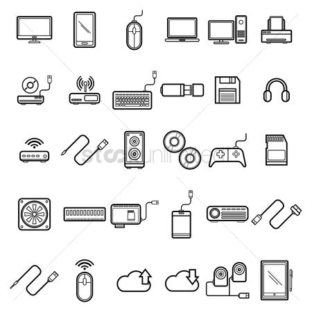 Electronic : Set of computer icons