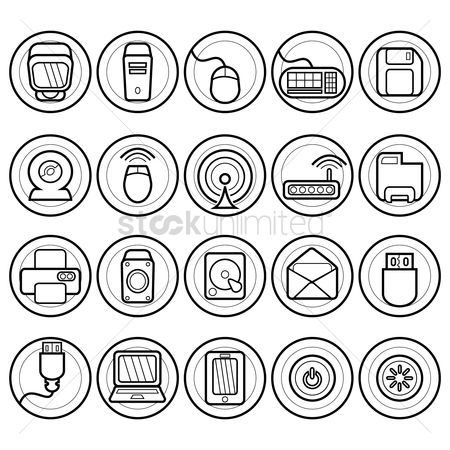 Power button : Set of computer icons