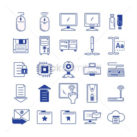 Screens : Set of computer icons