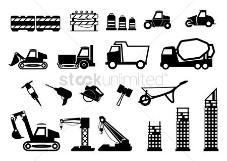 Roller : Set of construction icons