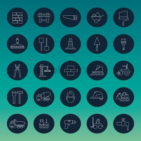 Faucets : Set of construction icons