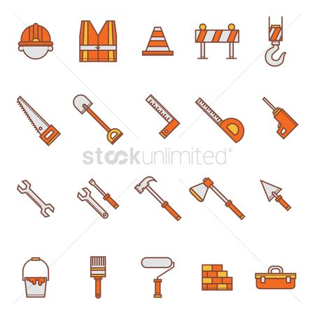 Cones : Set of construction icons