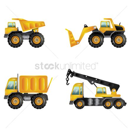 Lorries : Set of construction vehicles