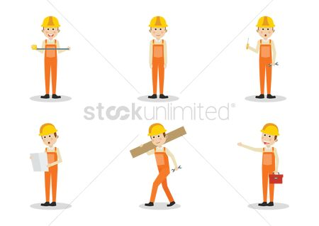 Screwdrivers : Set of construction worker icons