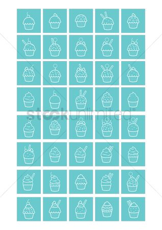 Topping : Set of cupcake collection