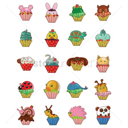 Duck : Set of cupcakes