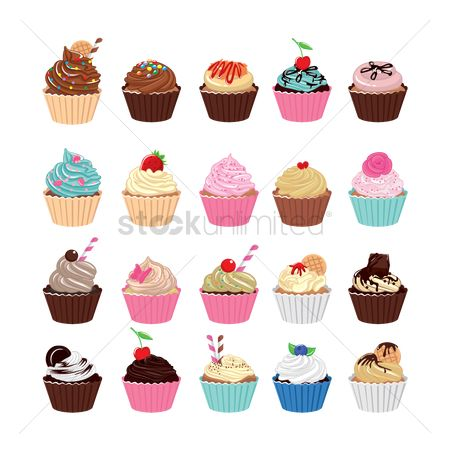 Topping : Set of cupcakes