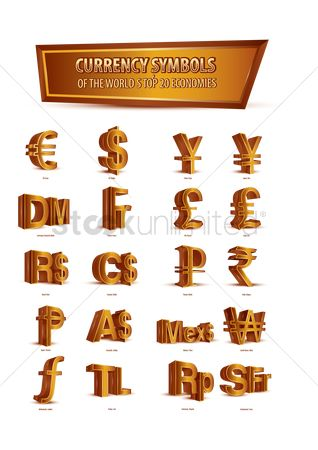 Free World Currency Stock Vectors Stockunlimited