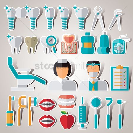 Apple : Set of dental icons