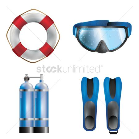 Tanks : Set of diving equipment