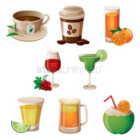 Coffee : Set of drinks