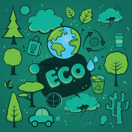 Petroleum : Set of eco icons