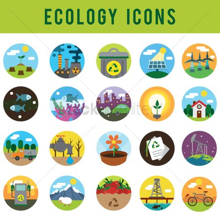 Car : Set of ecology icons