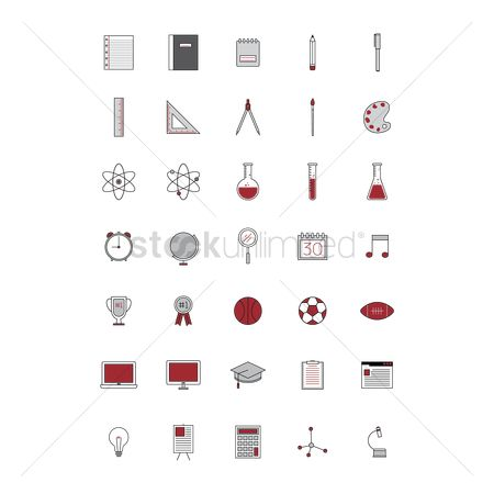 Footballs : Set of education icons