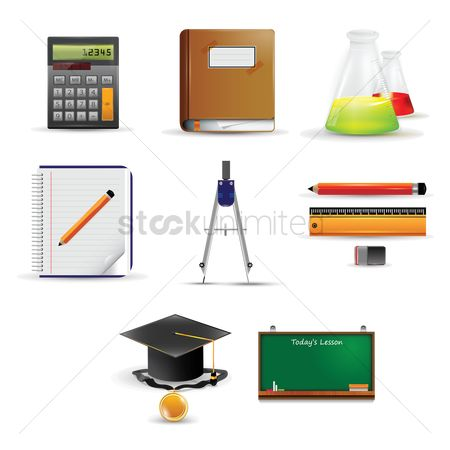 Blackboard : Set of education icons