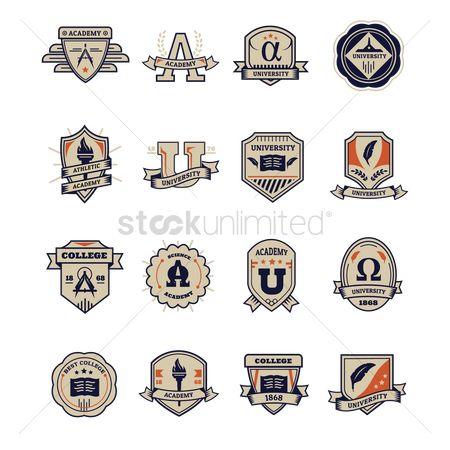 Torch : Set of education logo design icons