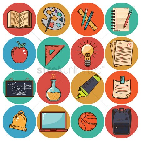 Highlighters : Set of educational icons
