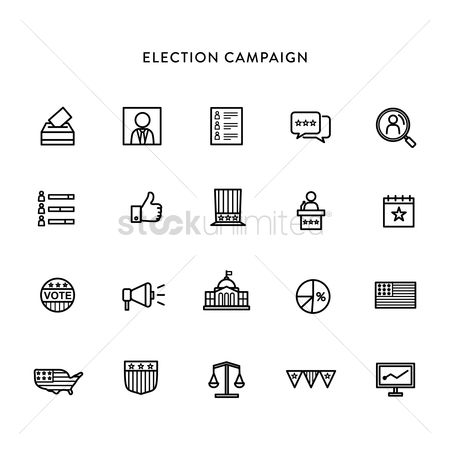 Common balance : Set of election icons