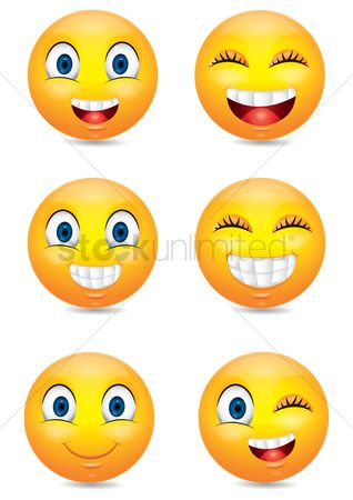 Expression : Set of emoticon icons