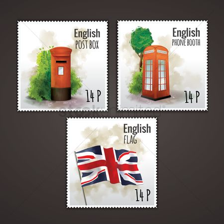 England : Set of english postal stamps