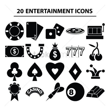 Casinos : Set of entertainment icons