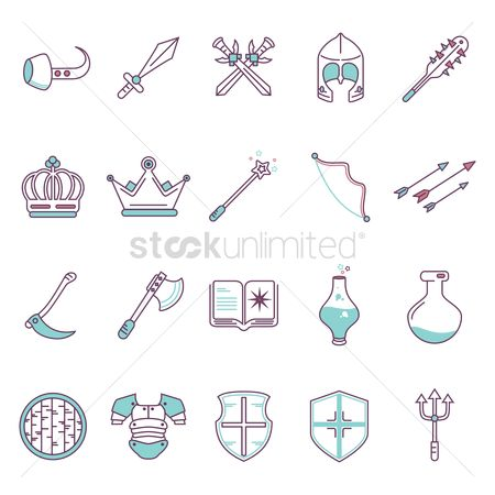 Lady : Set of fantasy icons
