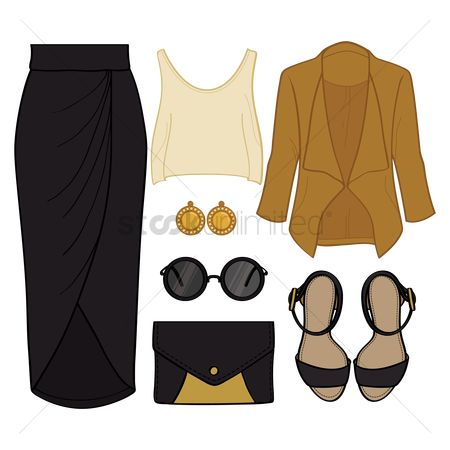 Skirt : Set of fashionable attire