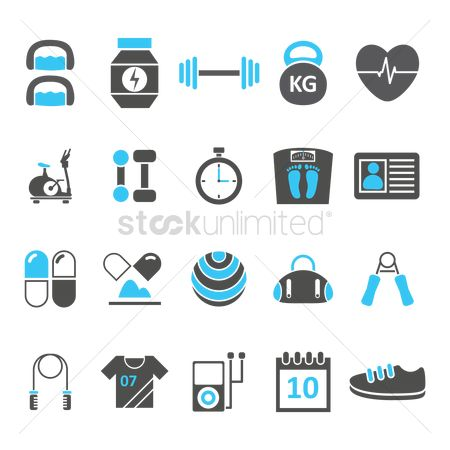 Medicines : Set of fitness icons