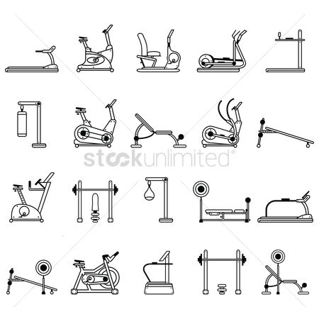 Weight : Set of fitness icons