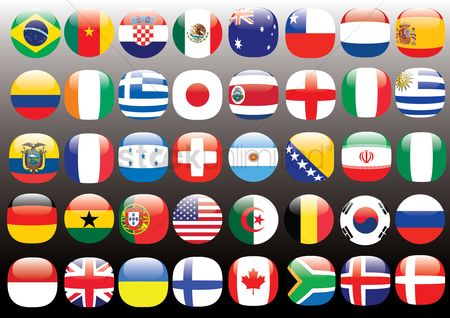Patriotic : Set of flag icons