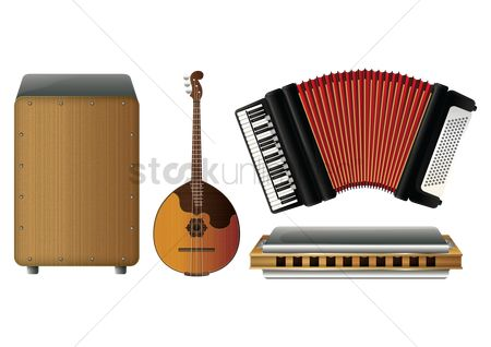 Melody : Set of folk musical instruments