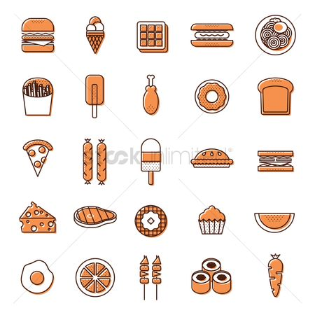 Hotdogs : Set of food icon