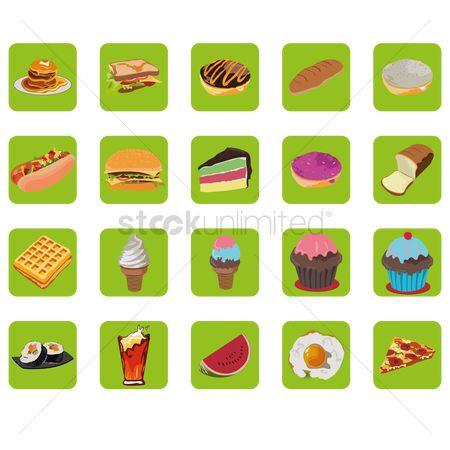 Binge : Set of food icons