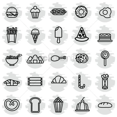 Confections : Set of food icons