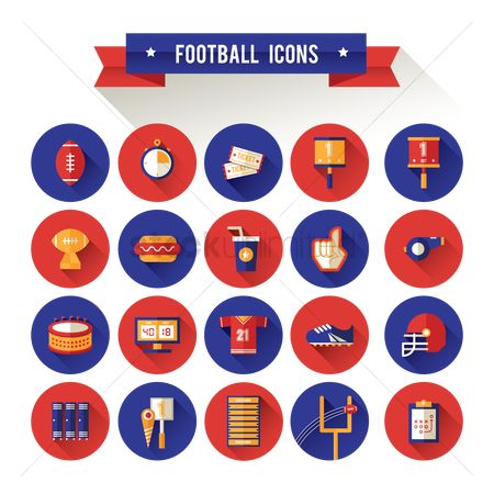 Whistle : Set of football icons
