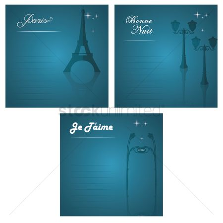 French : Set of france icons