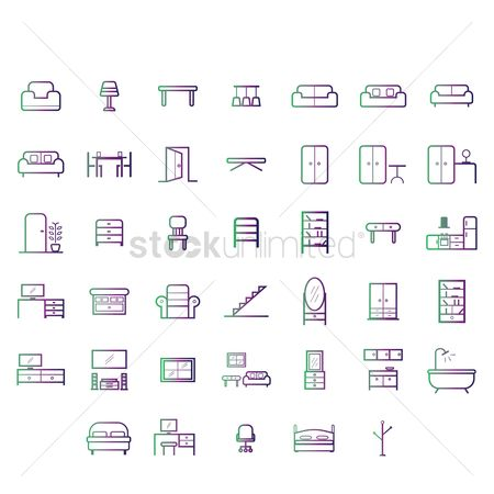 Illumination : Set of furniture icons