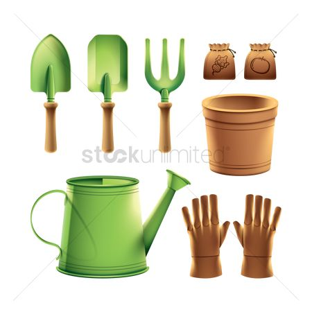 Flower pot : Set of gardening equipment