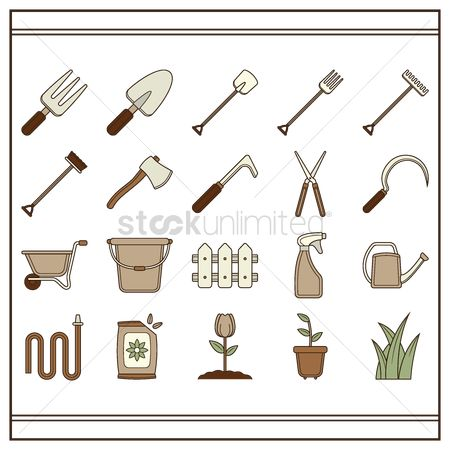 Shearing : Set of gardening tools