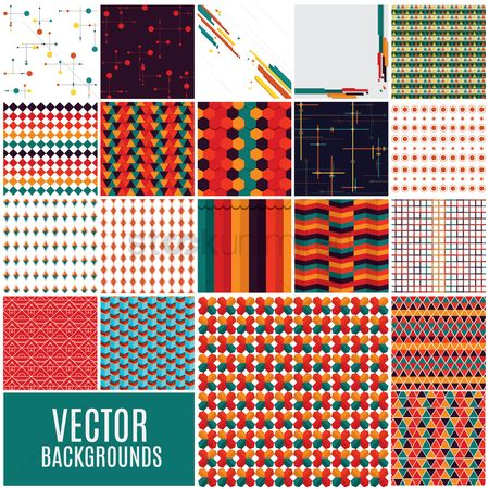Geometrics : Set of geometric backgrounds